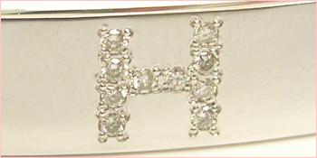 ホワイトゴールドブレスレットダイヤ加工